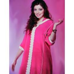 Djellaba marocaine Rose...