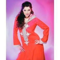 Djellaba marocaine rouge