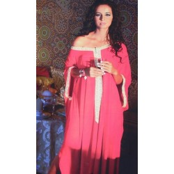 Gandoura marocaine rouge Style