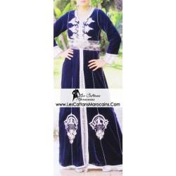 Caftan marocain bleu sublime