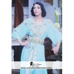 Caftan princesse Bleu Ciel