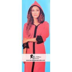Djellaba rouge glamour