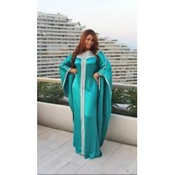 Gandoura turquoise