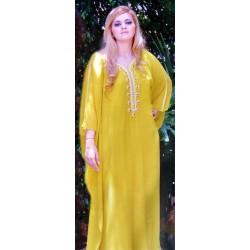 Gandoura couleur jaune