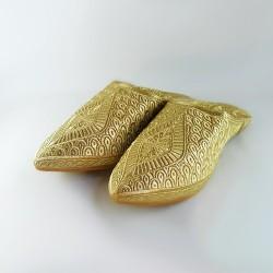 Babouche en fil d'or