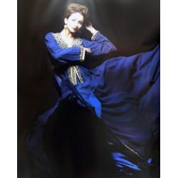 Takchita bleu roi perlée