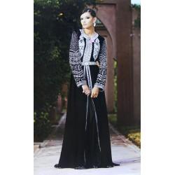 Takchita luxueuse en noir