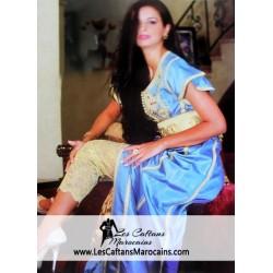 Caftan marocain Turquoise...