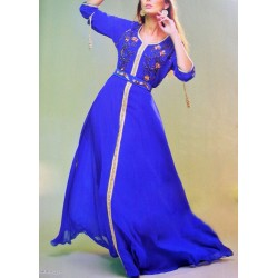 Djellaba bleu intemporel