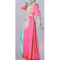 Takchita Rose et turquoise