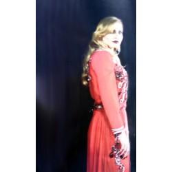 Caftan avec rose et turquoise pour mariage marocain