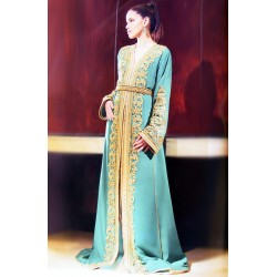 Takchita vert haute couture