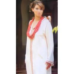 Djellaba marocaine blanc cassé