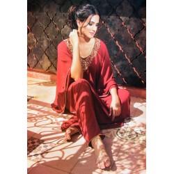 Gandoura rouge très sensuelle